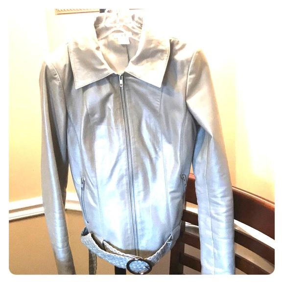 Cache Coeur Jackets & Blazers - Cache leather jacket size 2